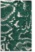 rug #588781    blue-green animal rug