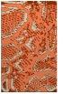 rug #588845 |  orange animal rug