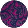 rug #589029 | round blue animal rug