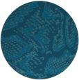 rug #589053 | round blue-green animal rug