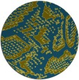 rug #589061   round blue-green animal rug