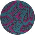 rug #589065   round blue-green animal rug