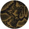 rug #589117 | round mid-brown rug