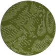 rug #589125 | round green animal rug