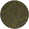 rug #589137   round green animal rug