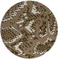 rug #589153 | round beige animal rug