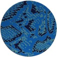 rug #589169 | round blue animal rug