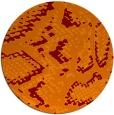 rug #589189   round orange animal rug