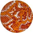 rug #589193 | round orange rug