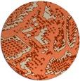 rug #589197 | round orange animal rug