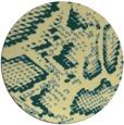 rug #589205   round yellow animal rug
