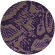 rug #589233 | round purple animal rug