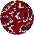 rug #589241 | round red animal rug