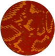 rug #589245 | round red animal rug
