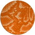 rug #589261   round red-orange animal rug