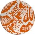 rug #589269 | round red-orange animal rug