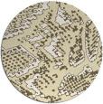 rug #589293   round yellow animal rug
