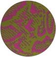 rug #589329 | round pink rug