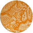 rug #589345   round light-orange animal rug