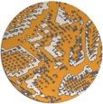 rug #589349   round light-orange animal rug