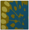 rug #591525 | square blue-green abstract rug