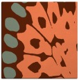 rug #591665 | square orange animal rug