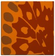 rug #591721 | square red-orange abstract rug