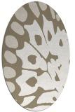 rug #591817 | oval beige animal rug