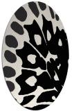 rug #591821 | oval white animal rug