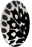 rug #591821 | oval white abstract rug