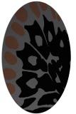 rug #591825 | oval black rug