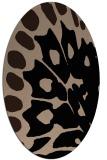 rug #591829 | oval beige abstract rug
