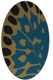 rug #591839 | oval abstract rug
