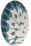rug #591841   oval white abstract rug