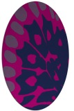 rug #591845 | oval pink animal rug
