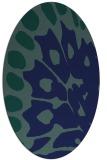 rug #591849 | oval blue animal rug
