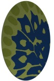 rug #591853 | oval blue animal rug