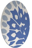 rug #591857 | oval blue animal rug