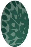 rug #591873   oval blue-green abstract rug