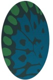 rug #591897 | oval blue animal rug