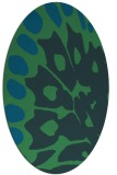rug #591900 | oval abstract rug
