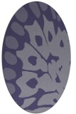 rug #591905   oval blue-violet abstract rug