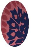 rug #591909 | oval blue-violet animal rug