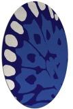 rug #591921 | oval blue-violet animal rug