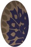 rug #591925 | oval blue-violet popular rug