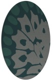 rug #591945 | oval blue-green abstract rug