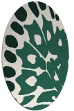 rug #591949 | oval green abstract rug