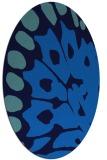rug #591985 | oval blue animal rug