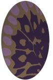 rug #592049 | oval purple animal rug