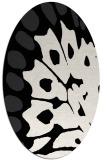 rug #592089 | oval white abstract rug